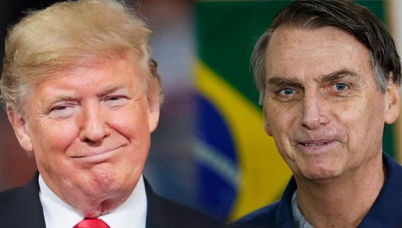 Aunque tienen muchas diferencias -Trump era un empresario multimillonario mientras que Bolsonaro era un legislador veterano- utilizaron varias tácticas que son bastante parecidas. (AP/AFP)