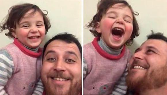 Con tan solo 4 años, Selva no siente miedo cada vez que escucha el sonido de las bombas en Siria. (Foto: Captura de video)