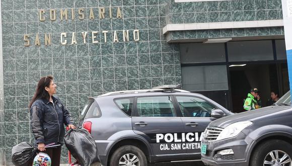 Los 34 agentes de la comisaría San Cayetano, en El Agustino, fueron relevados. (Foto: GEC)