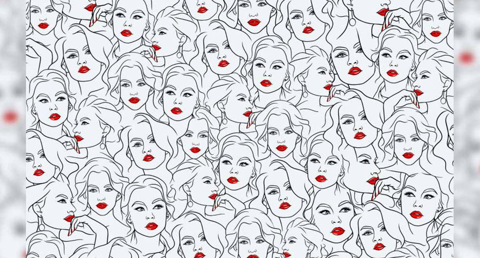 En la imagen hay varios rostros de la reconocida actriz Angelique Boyer, pero debemos hallar solo el que no tiene pestañas.| Foto: Televisa/Sheila Galicia