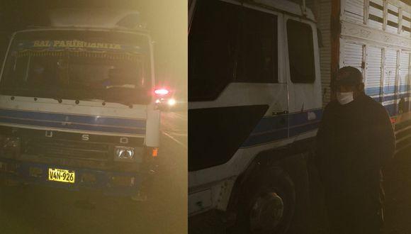 Puno: Chofer que transportaba de manera ilegal a 41 personas en tolva de camión fue detenido.