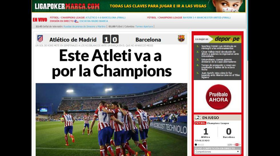 Atlético-Barcelona: así informa la prensa la hazaña de Simeone - 1