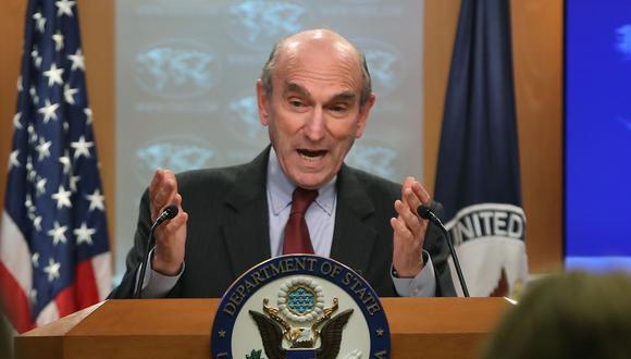 El representante especial de Estados Unidos para Venezuela, Elliott Abrams. (AFP).