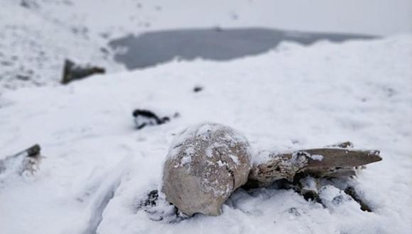 Solo cuando se derrite la nieve los esqueletos se hacen visibles. (Foto: Getty Images, vía BBC Mundo),