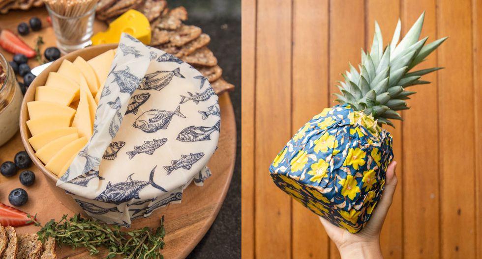 Envoltorios para alimentos que son lavables, reusables y compostables. (Fotos: Instagram / Beewe)