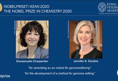 Dos mujeres genetistas ganan el Nobel de Química 2020   VIDEO