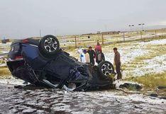 Puno: así quedó el vehículo donde viajaba un grupo de jugadores del Binacional tras accidente