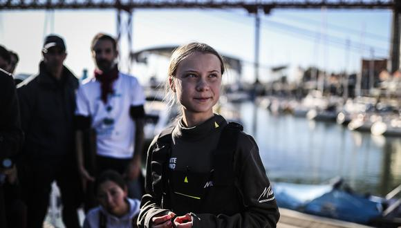 Greta Thunberg viaja a Madrid para participar en la Cumbre del Clima. Foto: AFP