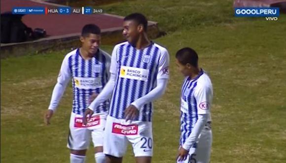 Alianza Lima vs. Sport Huancayo EN VIVO: Fuentes marcó el 3-0 con este golazo desde fuera del área   VIDEO. (Video: Gol Perú / Foto: Captura de pantalla)