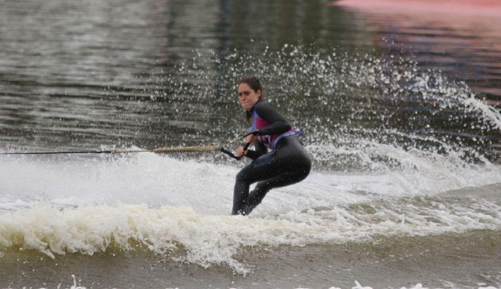 Natalia Cuglievan ganó el oro en esquí acuático. (Foto: Comité Olímpico Peruano)