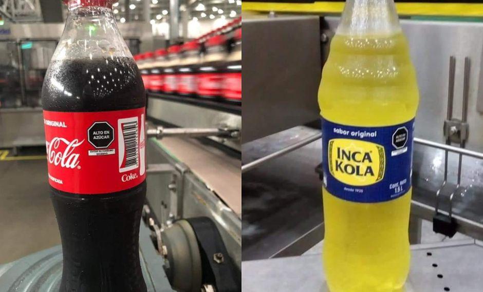 """Las bebidas que superen los 6g/100ml de azúcar tendrán un octógono que señale """"Alto en azúcar"""". (Foto: Twitter)"""