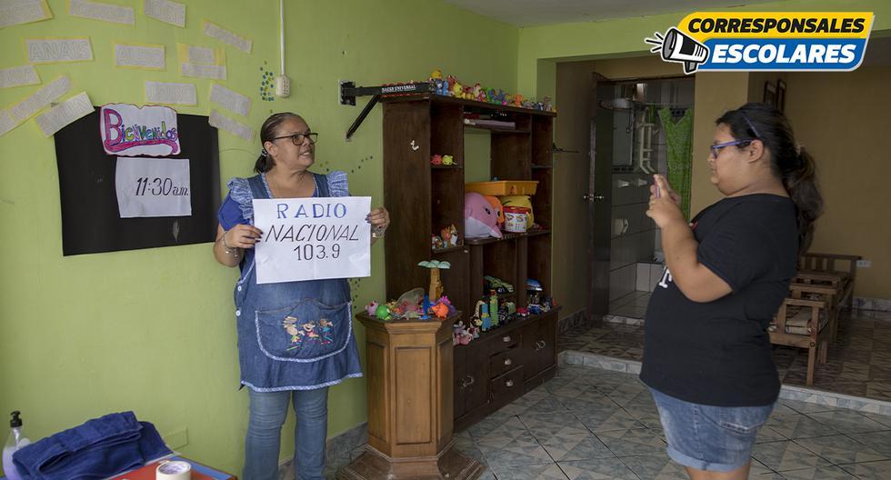 Maestra usa todo tipo de técnicas para dictar clases a distancia (Foto: Anthony Niño de Guzmán).