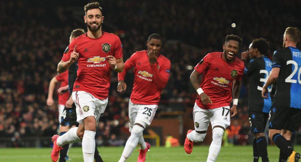 Estas fueron las mejores fotografías del partido entre Manchester United y Brujas por los dieciseisavos de final de la UEFA Europa League. AFP / Oli SCARFF