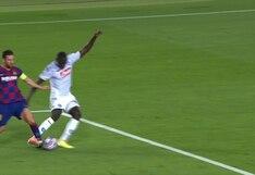La terrible patada de Koulibaly a Lionel Messi que provocó penal para el Barcelona | VIDEO