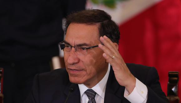El presidente Martín Vizcarra prometió luchar contra el crimen. (USI)