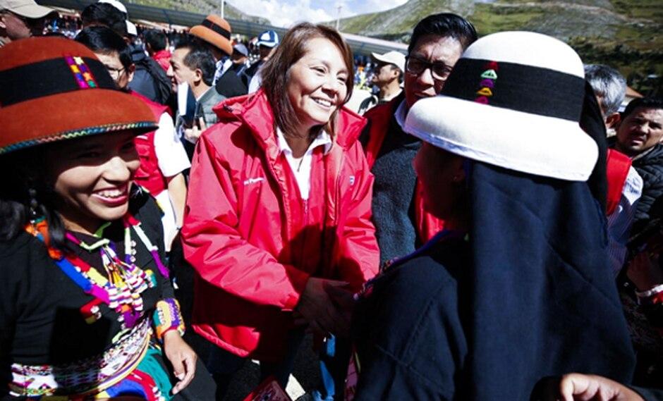 Ministra Bustamante ratificó que mañana se instalará comisión multisectorial para evaluar la situación de las familias en la zona del corredor minero. (Foto: Andina)