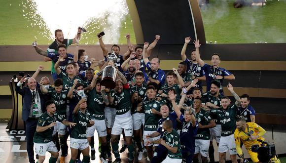2020 Palmeiras venció 1-0 a Santos en la final gracias a un agónico gol de Breno Lopes | Foto: EFE