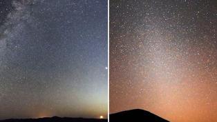 Luz zodiacal que se ve desde la Tierra proviene de Marte