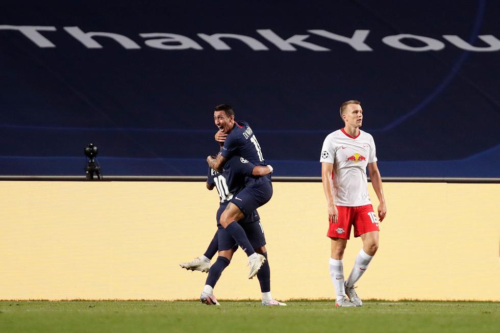 Ángel Di María convirtió el 2-0 a favor del PSG | Foto: AP/EFE/AFP