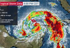EN VIVO | Tormenta tropical Zeta se dirige a Nueva Orleans y se espera que llegue como huracán