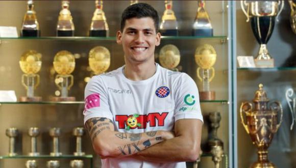 Bulos, quien jugó por Universitario, Cristal y Municipal en el Perú, busca protagonismo internacional para ganarse una convocatoria a la selección peruana. (@hajduk) 