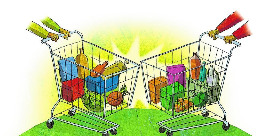 El etiquetado de alimentos siempre ha sido un tema controversial, pero su aplicación ya es ley en el Perú; y lo mismo ocurre en otros países de Latinoamérica y el mundo. [ILUSTRACIÓN: VÍCTOR AGUILAR].