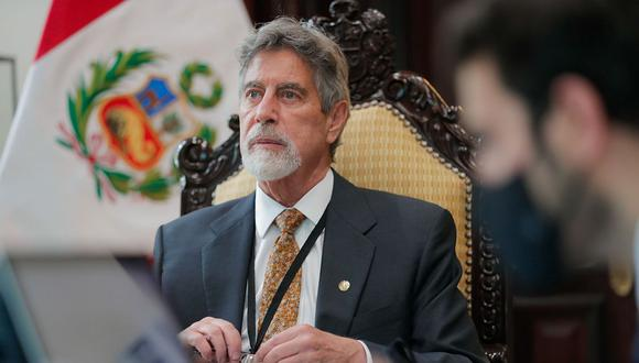 Francisco Sagasti escuchó a representantes de las bancadas del Congreso de manera virtual. (Foto: Presidencia)