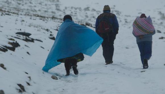 Sierra central y sur soportará nevadas de moderada intensidad