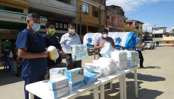Entregan cápsula de aislamiento y pruebas rápidas de COVID-19 a hospital en el Vraem. (Foto: Jorge Quispe)