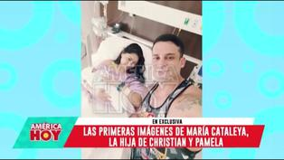 Pamela Franco y Christian Domínguez muestran las primeras fotos de su hija