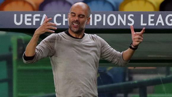 El lamento de Guardiola por la eliminación del City de la Champions League. (Foto: AFP)
