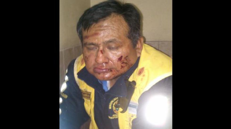 Inspector de la GTU fue brutalmente golpeado tras intervención - 1