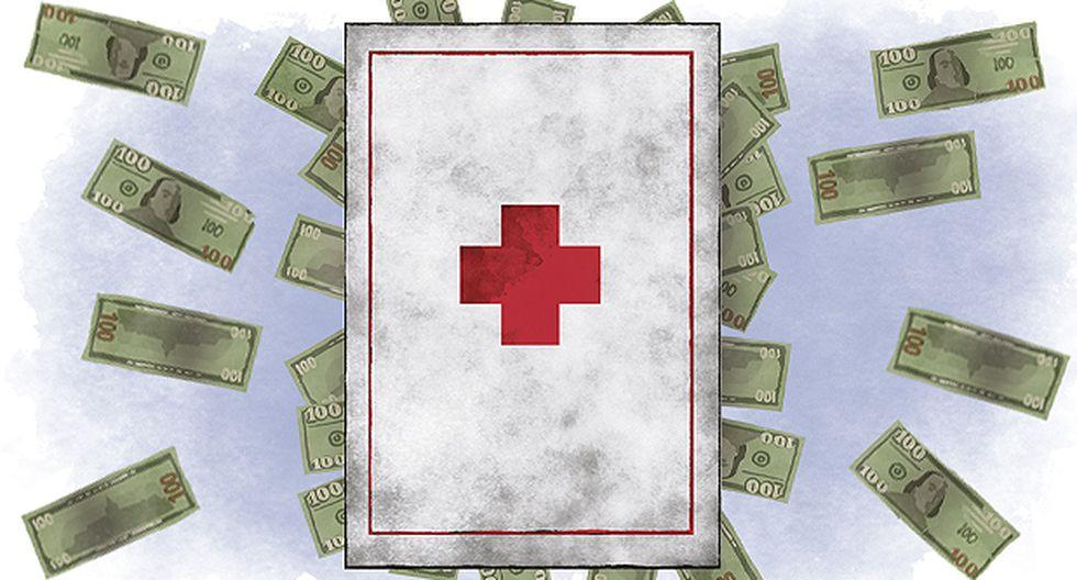 """""""Por el lado de la gestión, el fraccionamiento de la red asistencial peruana lleva a absurdos como tener múltiples establecimientos de salud en poblaciones pequeñas"""". (Ilustración: Víctor Aguilar)"""