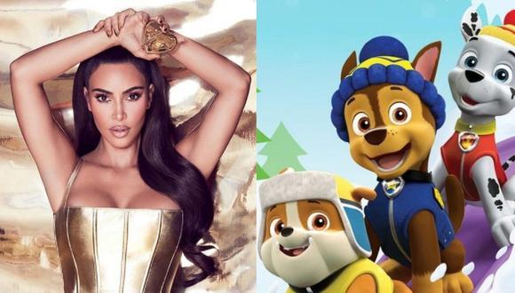 'Paw Patrol: The Movie' tendrá a Kim Kardashian como la voz de una nueva cachorra que compartirá con 'Ryder' y sus amigos. (Foto: @kkwfragrance @pawpatrol / Instagram)