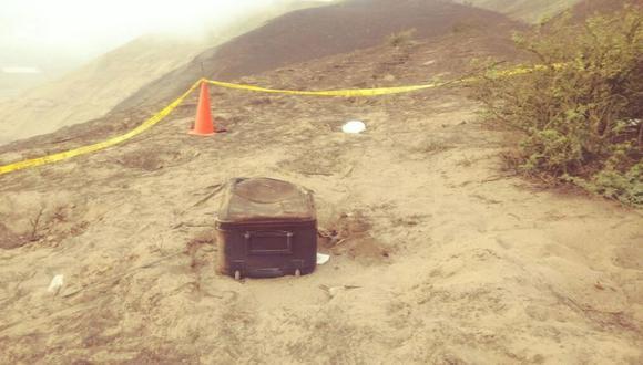 El cuerpo fue hallado dentro de una maleta en un descampado de la Variante del Pasamayo.