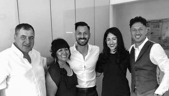 La familia Lapadula en pleno: Gianfranco, Blanca, Davide, Anna y Gianluca Lapadula. FOTO: Anna Lapadula FB.