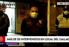 Callao: más de 50 intervenidos en fiesta clandestina