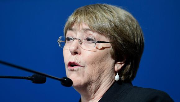 Michelle Bachelet también se habló sobre el desarrollo sostenible de América Latina. En el ámbito de la tecnología manifestó la necesidad de una revolución digital que funcione para todos, donde exista más diversidad y se eviten los sesgos. (Foto: CRISTINA QUICLER / AFP).