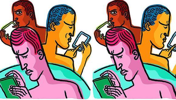 """""""El problema de fondo es el de nuestra relación con las redes sociales. Se trata de aprovecharlas y no de obedecer a sus adicciones"""". (Ilustración: Víctor Aguilar Rúa)."""