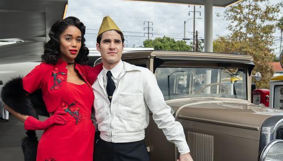 Ficción y realidad se entrelazan en Hollywood, nueva serie de Ryan Murphy. Foto: Netflix.