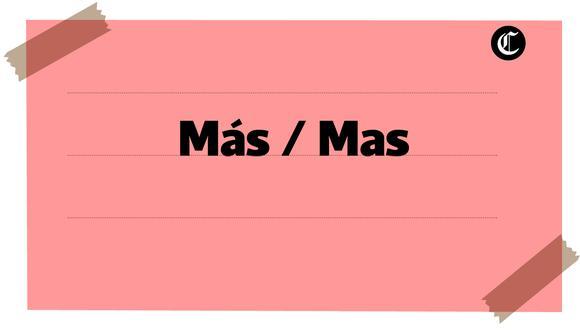 """""""Más"""" y """"mas"""" son palabras homófonas, pero tienen ortografía y usos distintos (Foto: El Comercio)"""