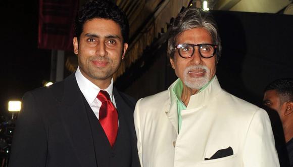 Amitabh y Abhishek Bachchan afirmaron en redes sociales que han sido hospitalizados por el coronavirus. (AFP).