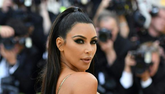 Kim Kardashian sorprendió a todos con extravagante look en Nueva York. (Foto: AFP/Angela Weiss)