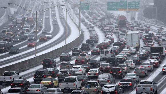 Caos en Atlanta: Ocho horas para recorrer 1,6 kilómetros