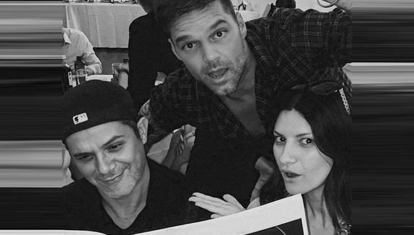 Alejandro Sanz revive divertido momento con Laura Pausini y Ricky Martin. (Foto: @alejandrosanz)