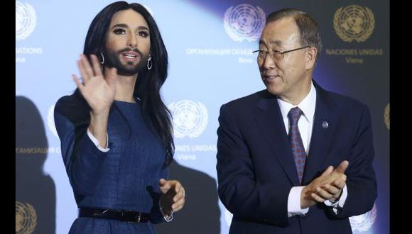 Ban Ki-moon y Conchita Wurst se unen contra la homofobia