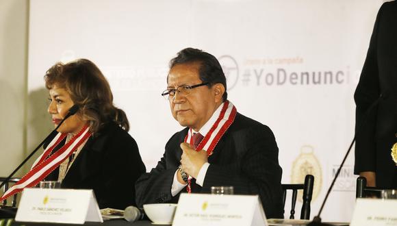 """Los fiscales supremos Zoraida Ávalos y Pablo Sánchez señalaron que el proceder de Chávarry """"vulnera de sobremanera la imagen del Ministerio Público"""". (Foto: El Comercio)"""