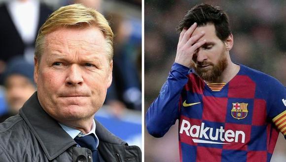 Ronald Koeman habló del caso Lionel Messi en Barcelona