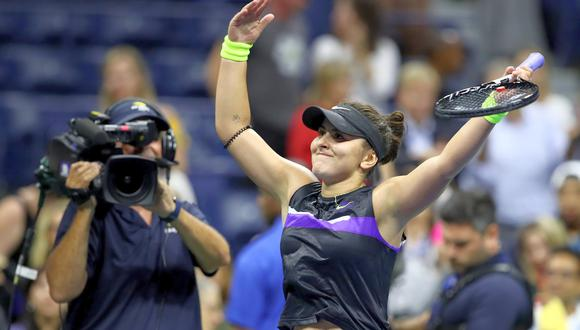 La canadiense Bianca Andreescu disputa su primer título de Gran Slam en el US Open este sábado, donde Serena apunta a su major número 24. (Foto: AFP)