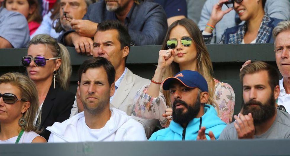 La esposa y el equipo de Berdych. (Foto: Agencias)